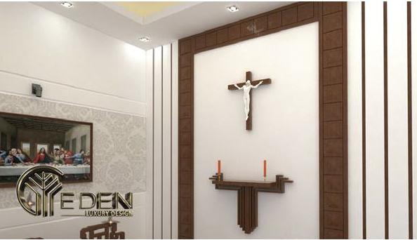 Mẫu bàn thờ Chúa treo tường ấn tượng