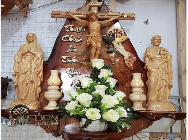 Mẫu bàn thờ Chúa kệ liền