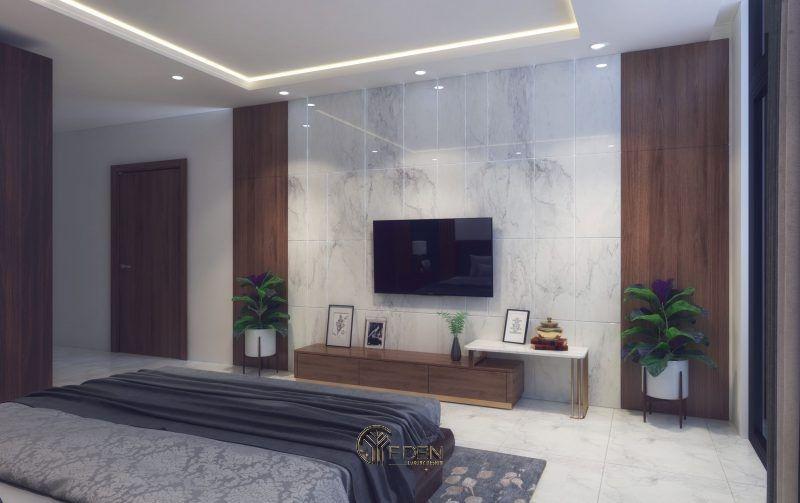 Mẫu thiết kế phòng ngủ với kệ tivi hiện đại 10