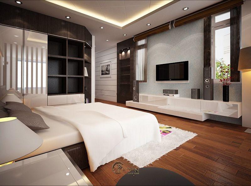 Mẫu thiết kế phòng ngủ với kệ tivi hiện đại 8