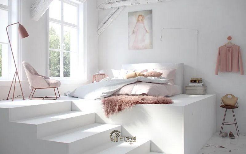 Màu sơn trắng tinh tế cho phòng ngủ của các nàng