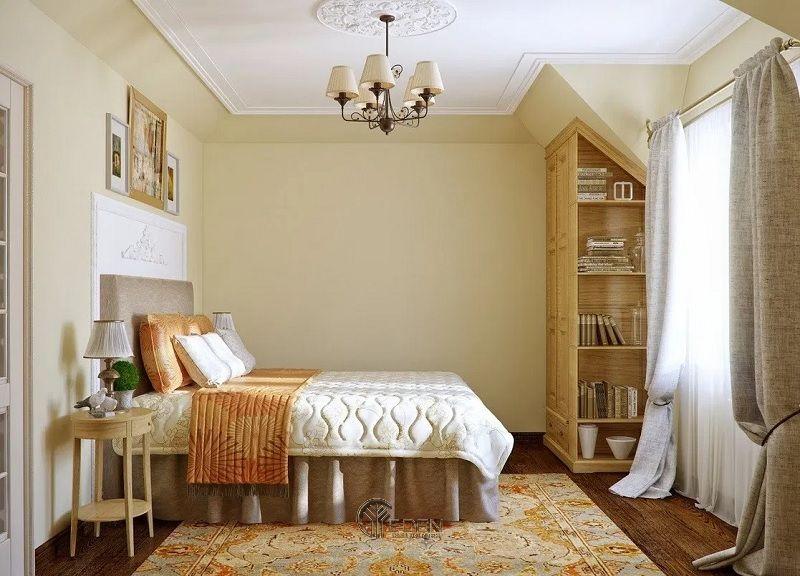 Màu vàng rơm ấm áp cho phòng ngủ