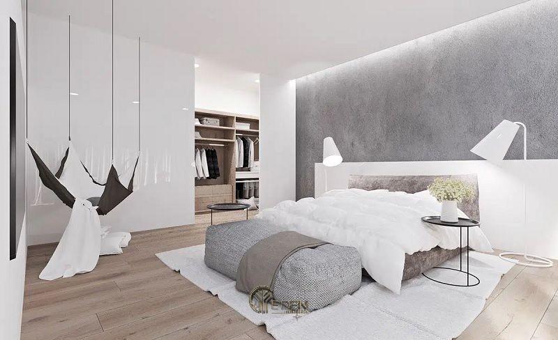 Màu sơn trắng ngà cho phòng ngủ phong cách Scandivinian
