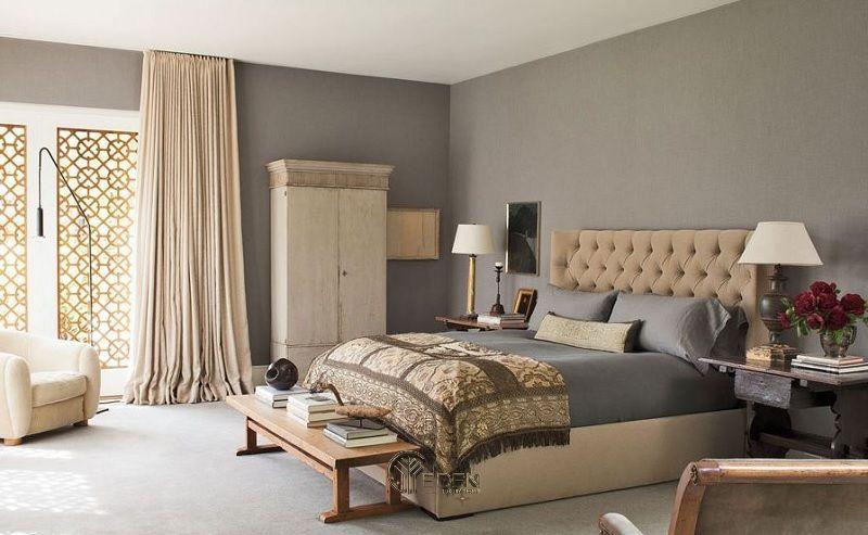 Màu sơn Taupe cho phòng ngủ phong cách cổ điển
