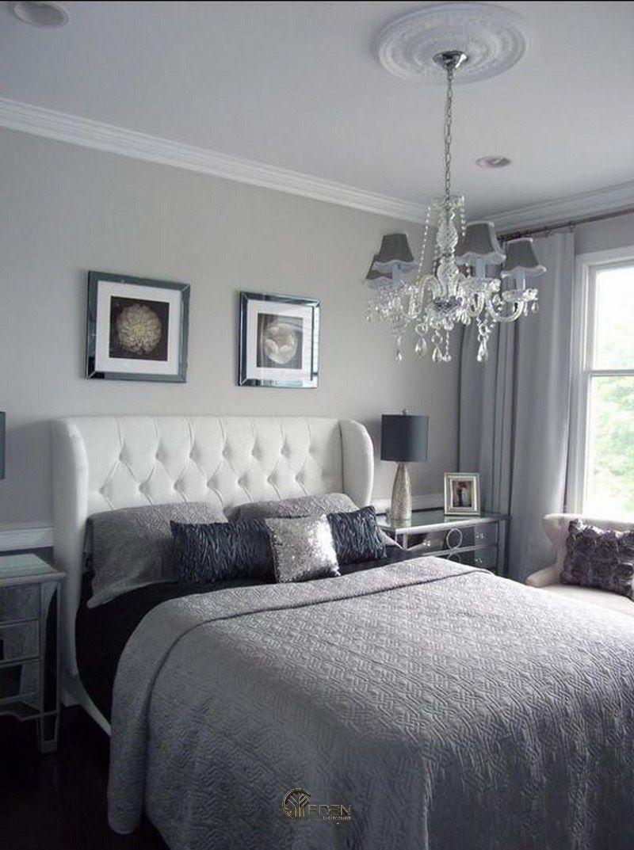 Màu sơn xám sang trọng cho phòng ngủ phong cách hiện đại