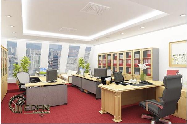 Phòng làm việc trong công ty hiện đại, tiện nghi