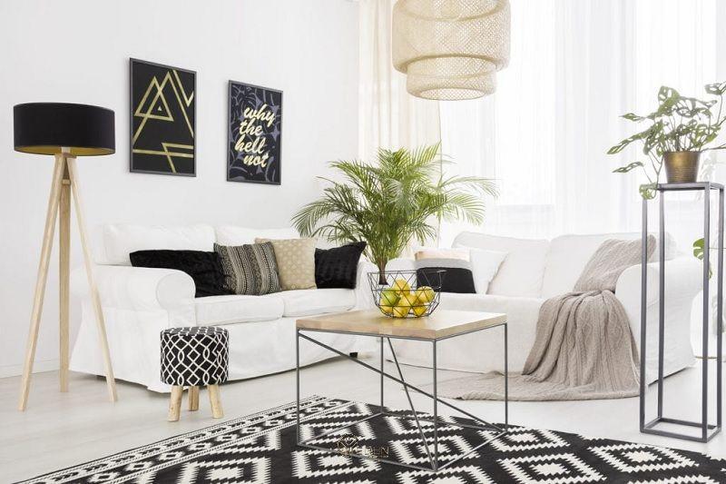 Mẫu thảm phòng khách đương đại mang nét hiện đại
