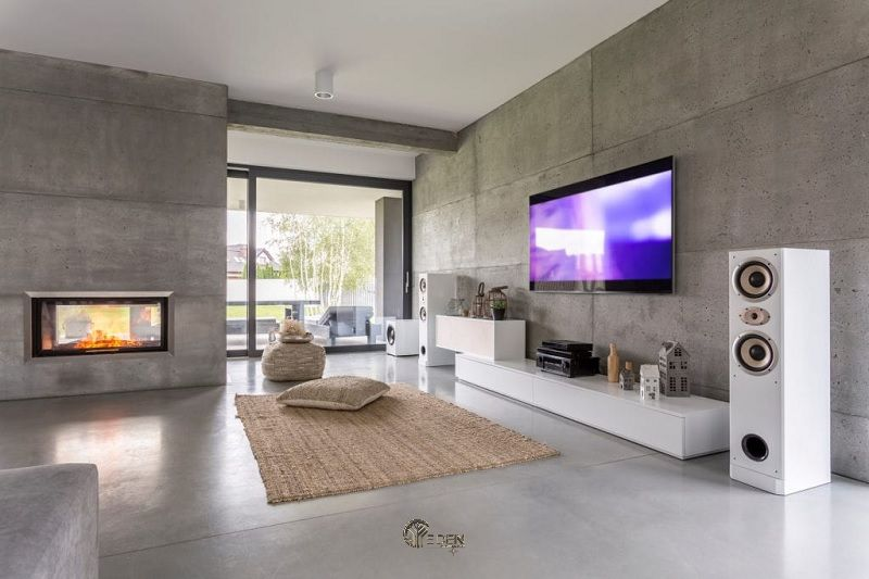 Mẫu thảm mềm mại tạo điểm nhấn phong cách phòng khách tối giản