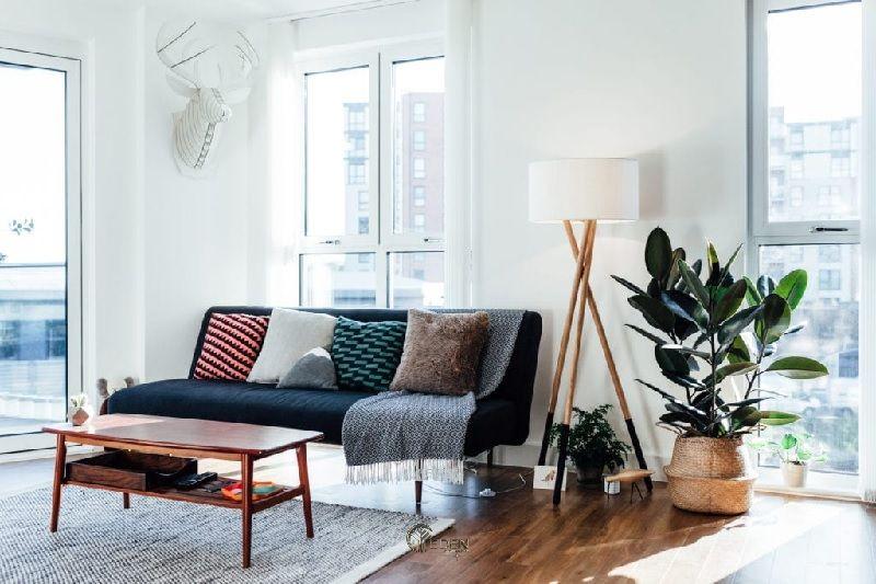 Mẫu thảm tạo điểm nhấn phong cách phòng khách Vintage
