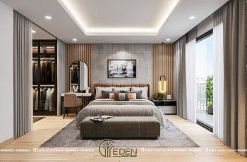 Thiết kế nội thất phòng ngủ Master biệt thự hiện đại