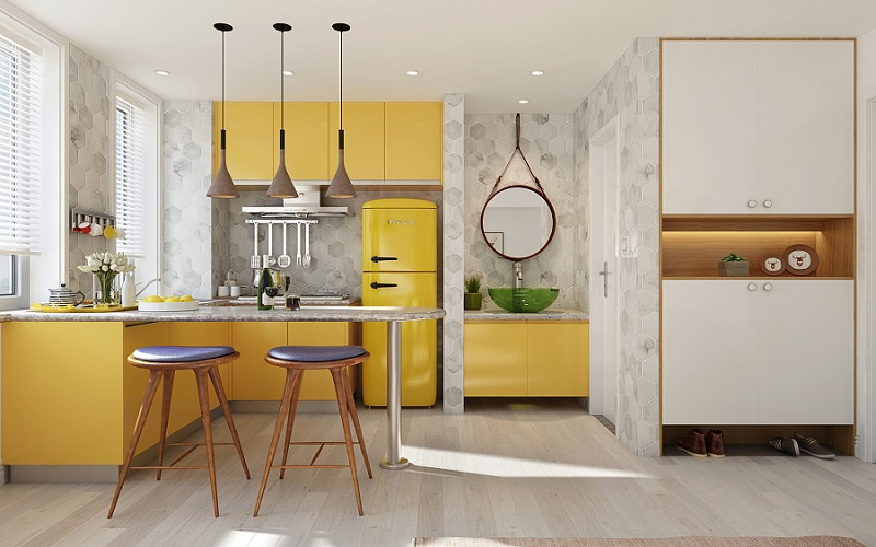 Cách bố trí bếp trong căn hộ chung cư chuẩn