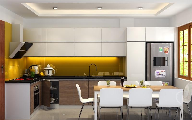 Mẫu thiết kế phòng bếp chung cư đẹp 9