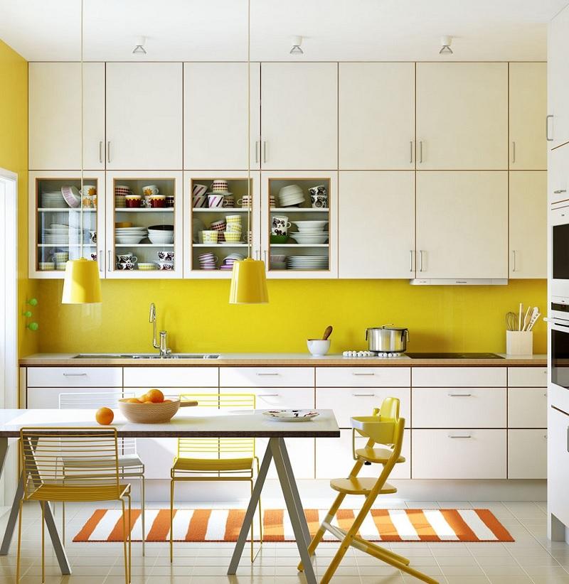 Mẫu thiết kế phòng bếp chung cư đẹp 8