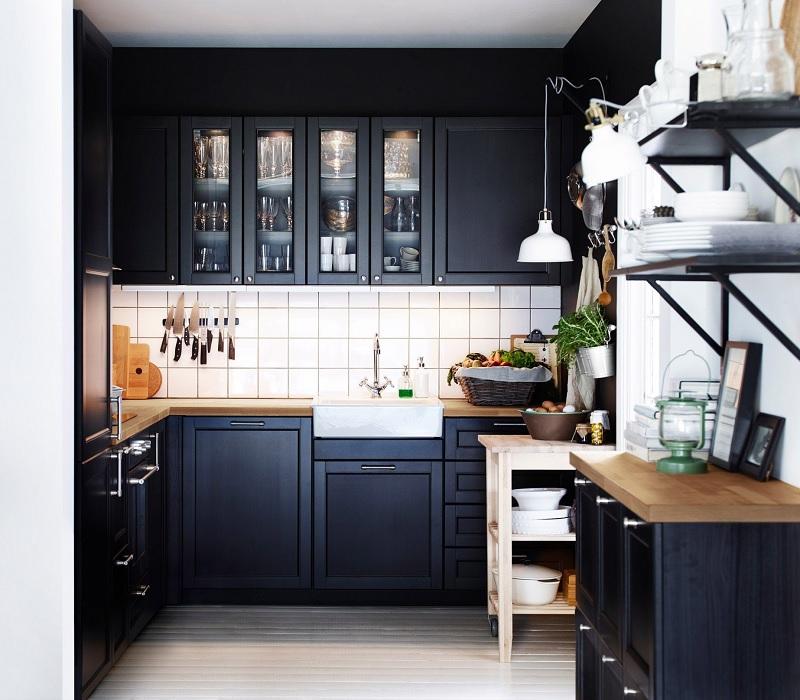 """Thiết kế phòng bếp chung cư đẹp với mẫu tủ bếp chữ """"U"""""""