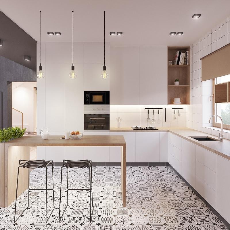 Mẫu thiết kế phòng bếp chung cư đẹp 6