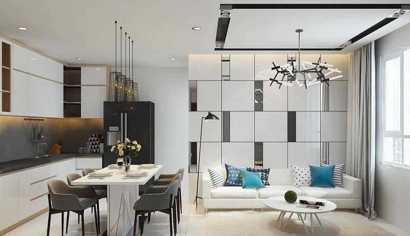 Mẫu thiết kế phòng bếp chung cư đẹp 4