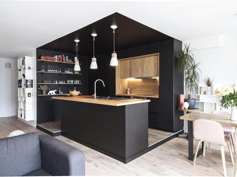 Mẫu thiết kế phòng bếp chung cư đẹp 1