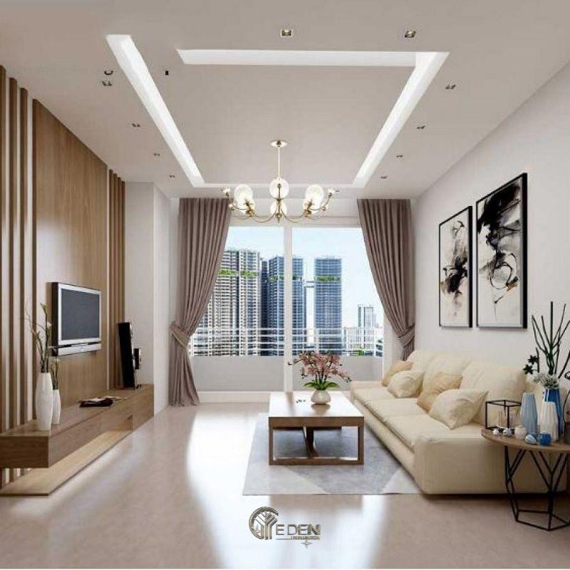 Mẫu phòng khách chung cư 60m2 phong cách hiện đại 4