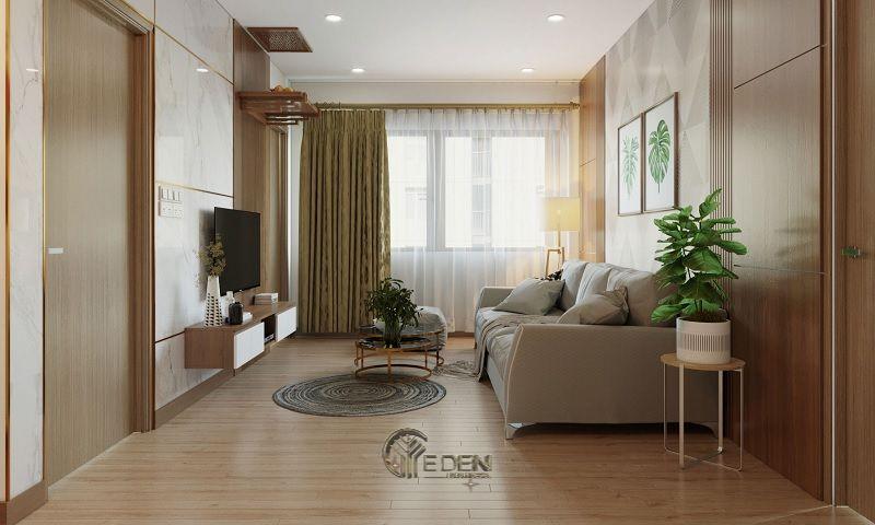 Mẫu phòng khách chung cư 60m2 phong cách hiện đại 3