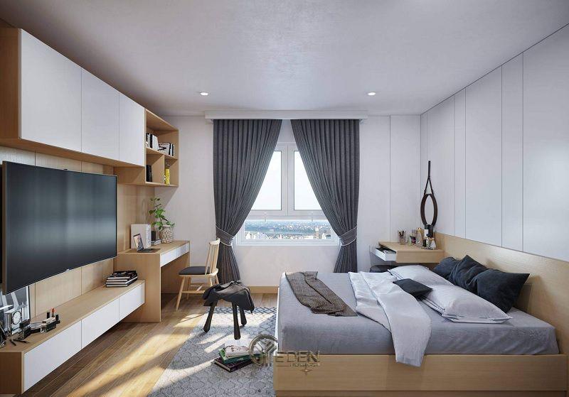 Mẫu phòng ngủ chung cư phong cách hiện đại 1
