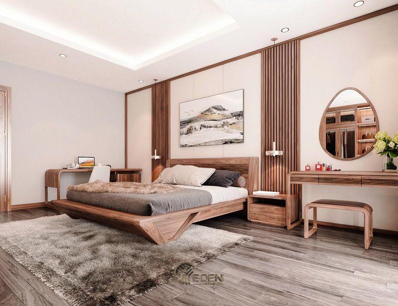 Mẫu phòng ngủ chung cư đẹp phong cách Tân cổ điển kiểu Nhật 2