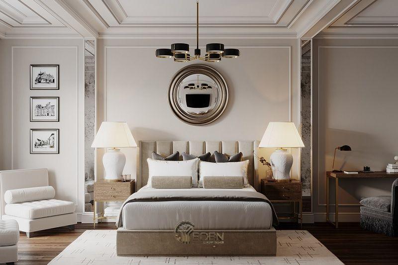 Mẫu phòng ngủ chung cư đẹp phong cách Tân cổ điển 1