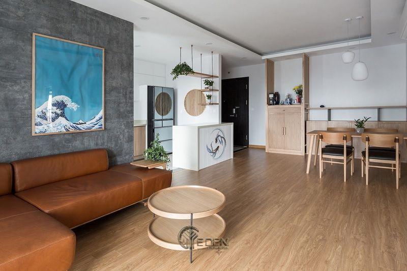 Mẫu phòng khách chung cư đẹp phong cách Tối giản 3