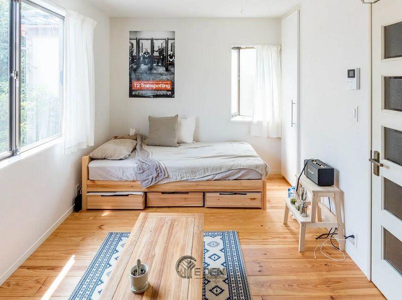 Mẫu phòng ngủ chung cư đẹp phong cách Tối giản 5