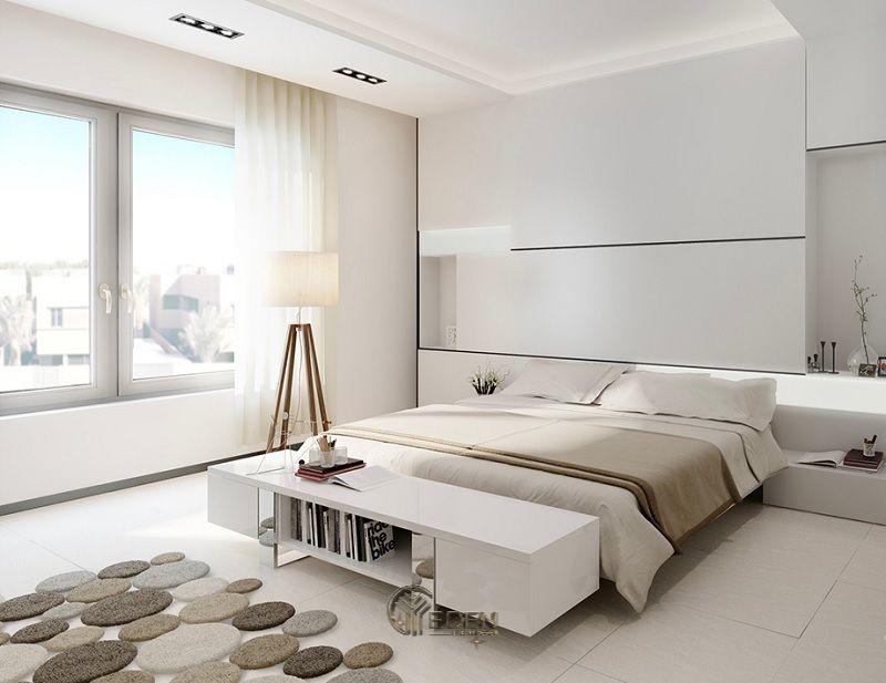 Mẫu phòng ngủ chung cư đẹp phong cách Tối giản 3