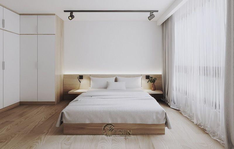 Mẫu phòng ngủ chung cư đẹp phong cách Tối giản 2
