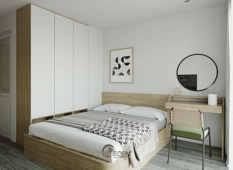 Mẫu phòng ngủ chung cư đẹp phong cách Tối giản 6