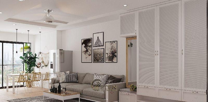 Mẫu phòng khách chung cư đẹp phong cách Scandinavian 3