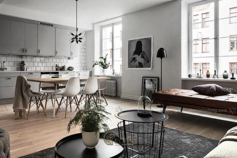 Mẫu phòng khách chung cư đẹp phong cách Scandinavian 4