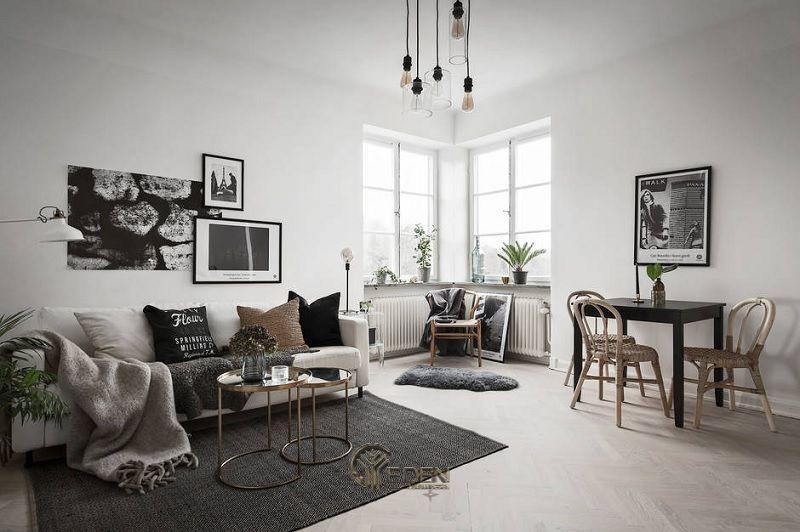 Mẫu phòng khách chung cư đẹp phong cách Scandinavian 5