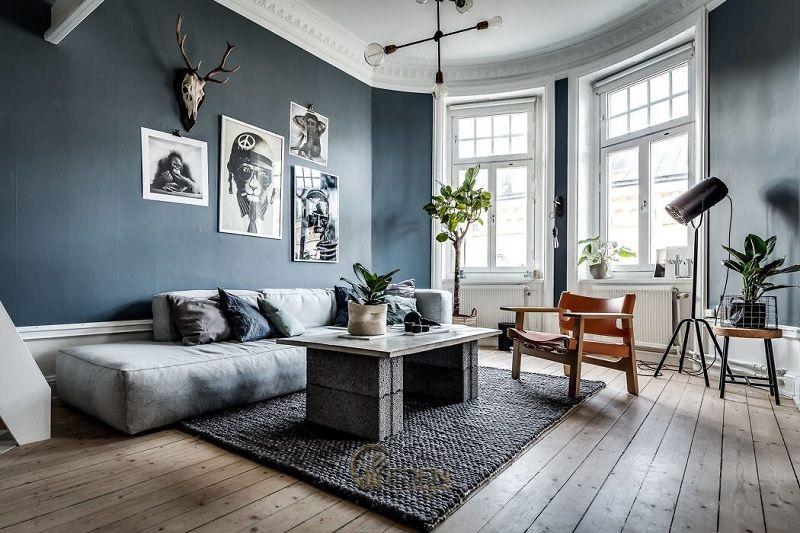 Mẫu phòng khách chung cư đẹp phong cách Scandinavian 6