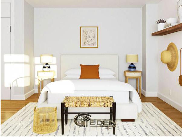 Lựa chọn giường ngủ vững chắc, kích thước phù hợp với căn phòng