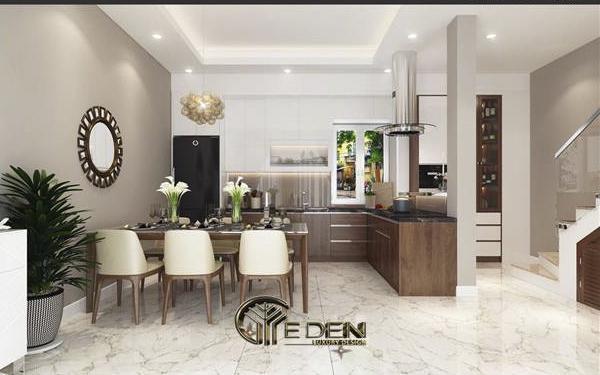 Phòng bếp ấm cúng là không gian chung cho cả nhà