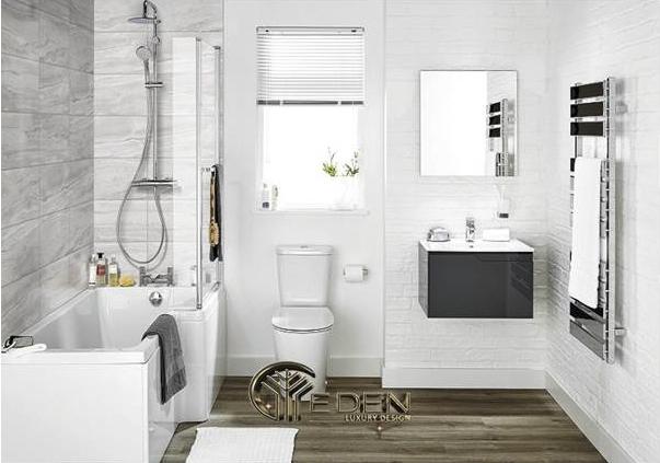 Nhà vệ sinh nên để màu trắng làm chủ đạo
