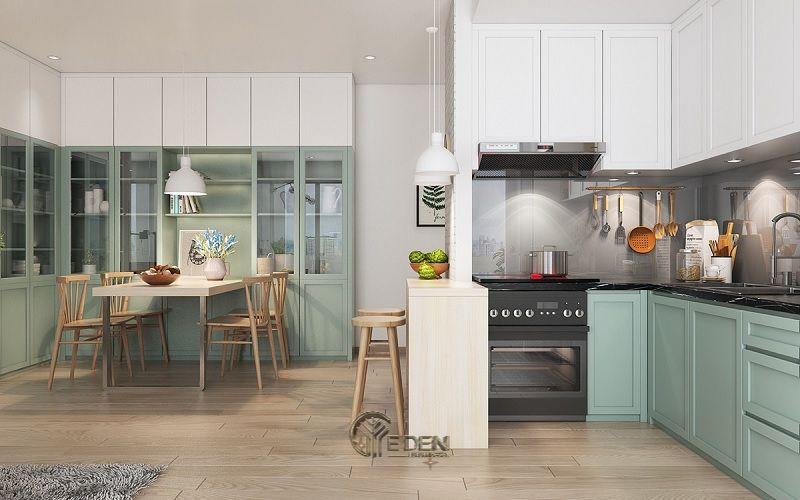 Ứng dụng cách thiết kế nhà bếp và phòng ăn cho chung cư 6