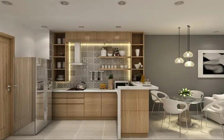 Ứng dụng cách thiết kế nhà bếp và phòng ăn cho chung cư 4