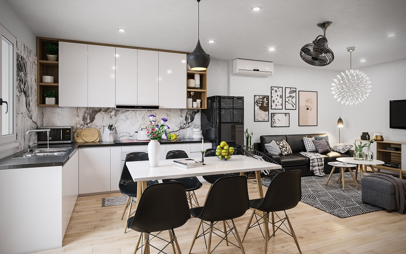 Ứng dụng cách thiết kế nhà bếp và phòng ăn cho chung cư 3