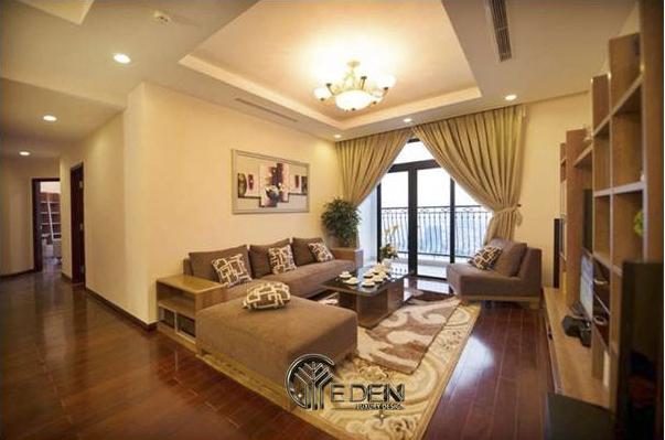 Phòng khách được thiết kế rất sang trọng theo phong cách hiện đại