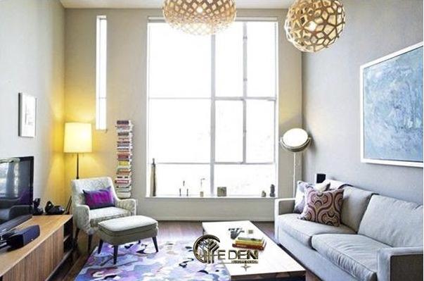 Phòng khách hiện đại với các họa tiết trang trí lạ mắt