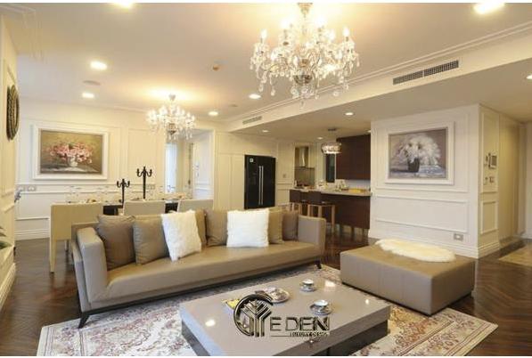 Phòng khách thiết kế theo phong cách tân cổ điển