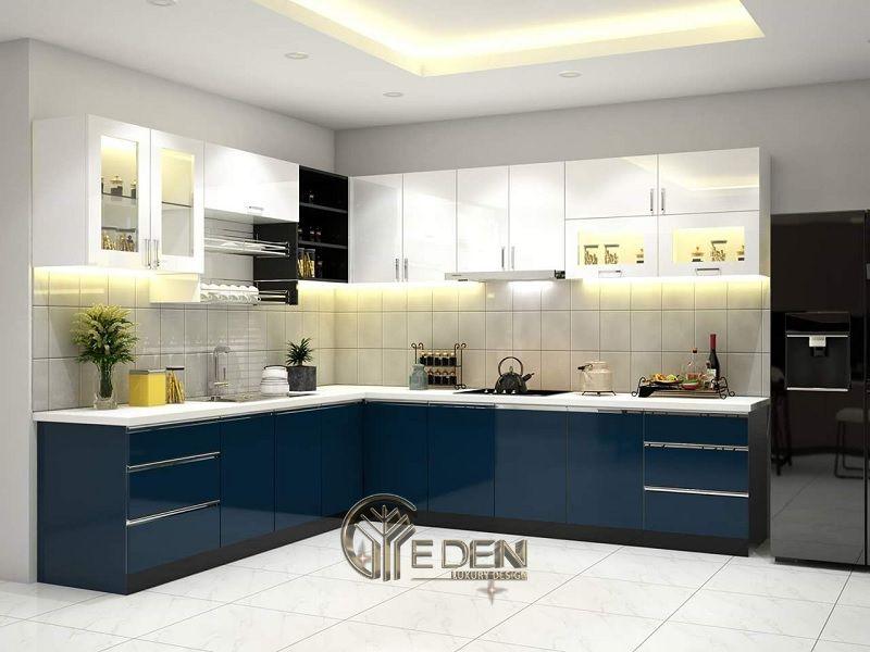 Mẫu phòng bếp với đá ốp phong cách hiện đại (2)