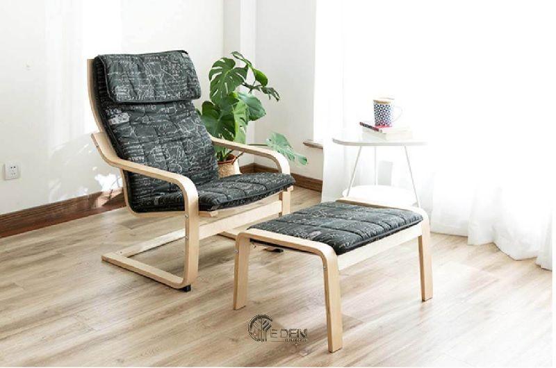 Mẫu ghế thư giãn kết hợp ghế để chân phù hợp với nhiều không gian gia đình