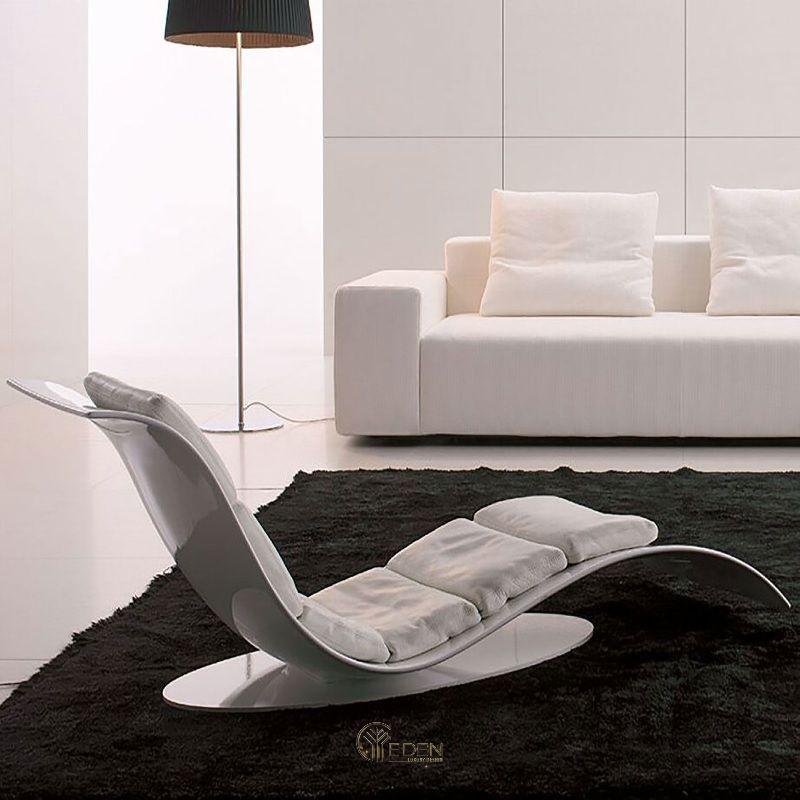 Mẫu ghế thư giãn hiện đại cho không gian tối giản. Tạo điểm nhấn tuyệt vời cho không gian với đường cong mềm mại