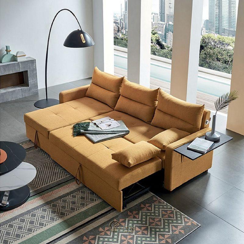 Mẫu ghế đa năng kết hợp ghế sofa phòng khách. Vừa giúp người sử dụng thư giãn, thoải mái mà lại không tốn diện tích phòng