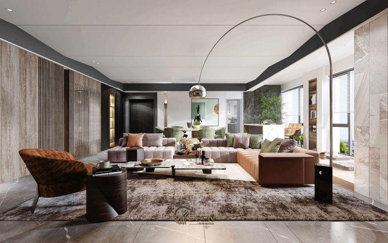 Mẫu thiết kế phòng khách phong cách Hiện đại sang trọng (2)