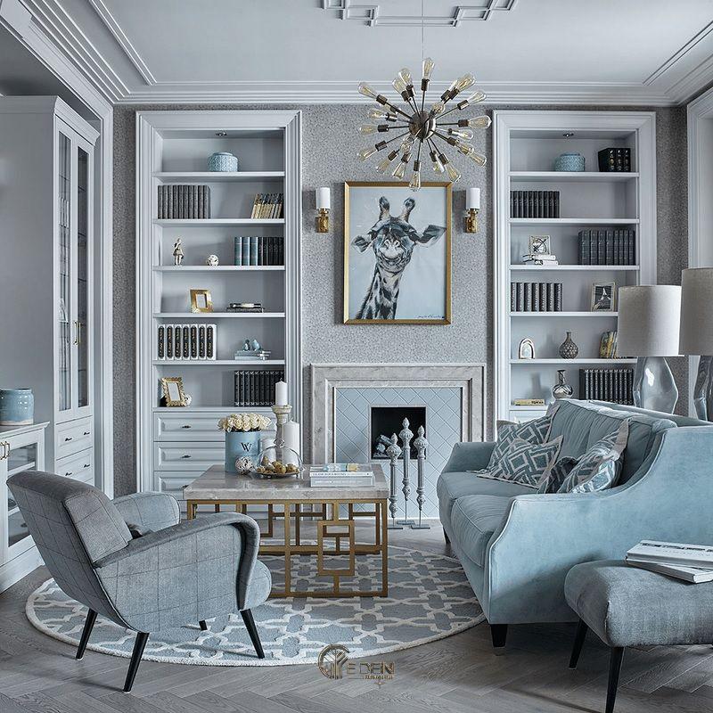 Mẫu thiết kế phòng khách phong cách Tân cổ điển mới lạ (2)